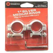 "Inele Simmons 1"" medii Weaver argintiu"